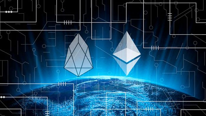 Блокчейн-платформы EOS (EOS) и Ethereum (ETH)
