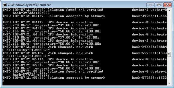 Бат файл Eminer ETHASH miner v0.6.0-RC1