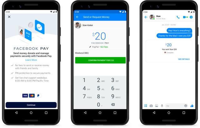 Платежная платформа Facebook Pay