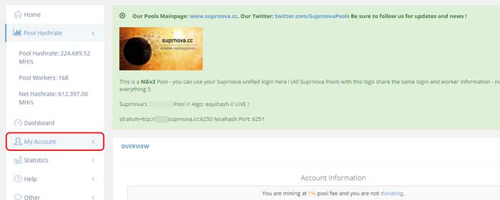My Account Supernova LBC