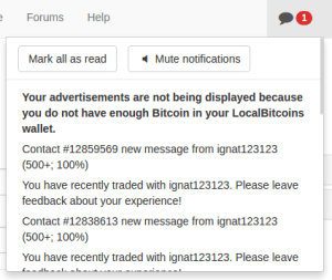 Личные сообщения в LocalBitcoins