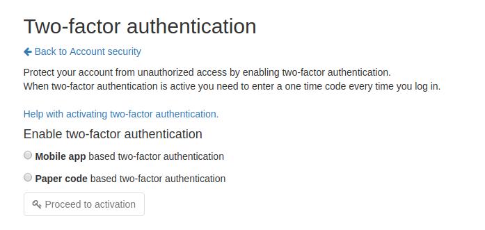 Настройка двухфакторной аутентификации