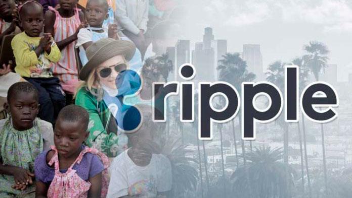 Благотворительность Мадонна и Ripple