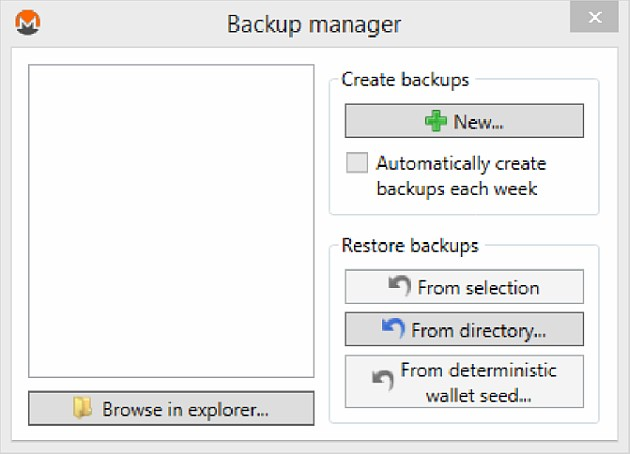 Monero Backup Manager