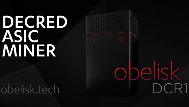 ASIC майнер Obelisk DCR1 для Decred