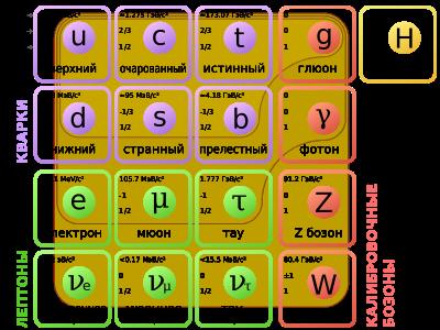 Стандартная модель устройства вселенной