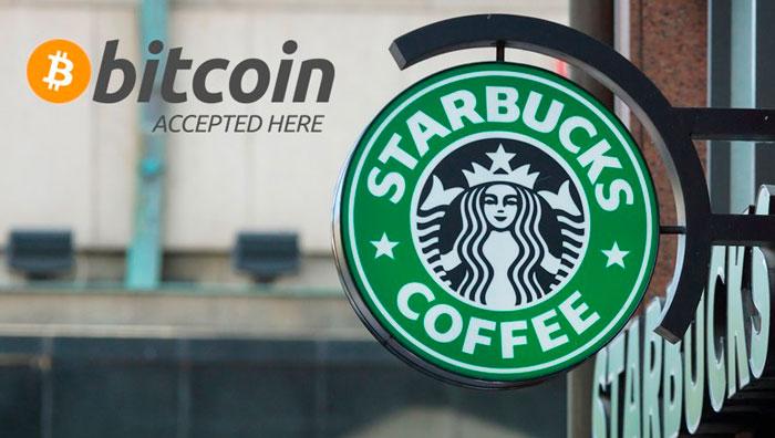 Starbucks принимает биткоин