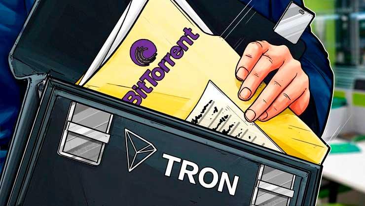 TRON купил сервис BitTorrent