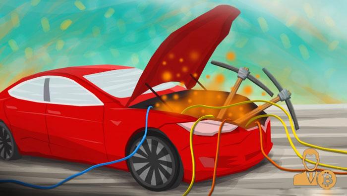 Биткоин-нода в электромобилях Tesla
