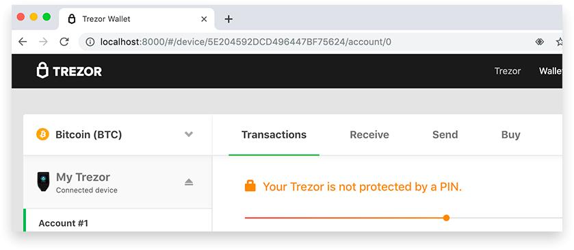 Запуск trezor.io на локальной машине