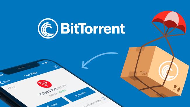 BitTorrent запустил Airdrop своих токенов BTT для владельцев TRON