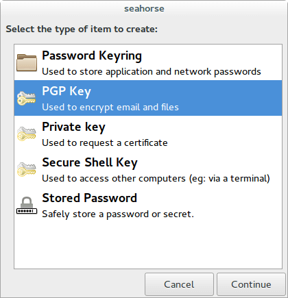 Получение ключа PGP