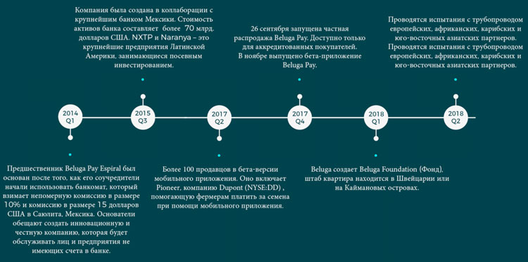 Дорожная карта проекта BelugaPay 2014-2018