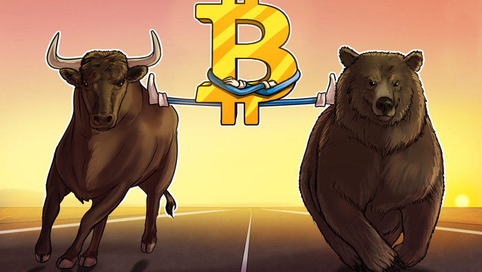 Коррекция и рост биткоина
