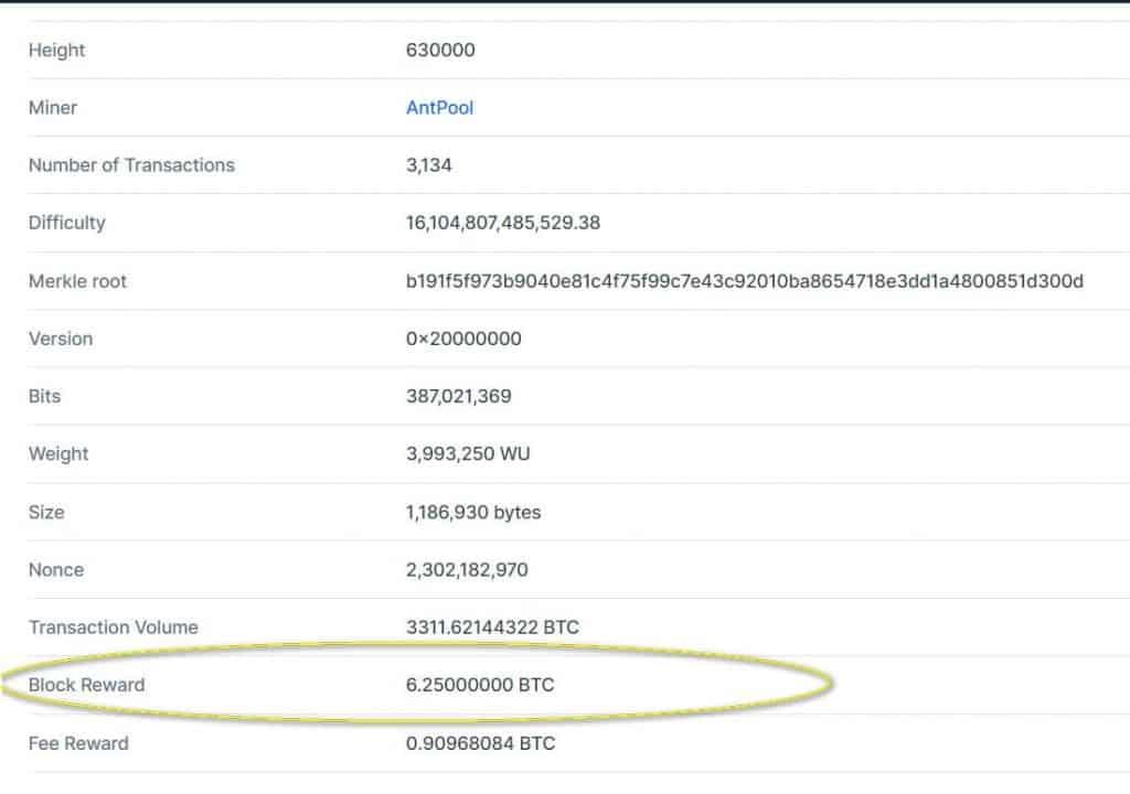 Блок №630 000 в блокчейне биткоина