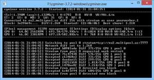 CGMiner - программа для майнинга криптовалюты на GPU