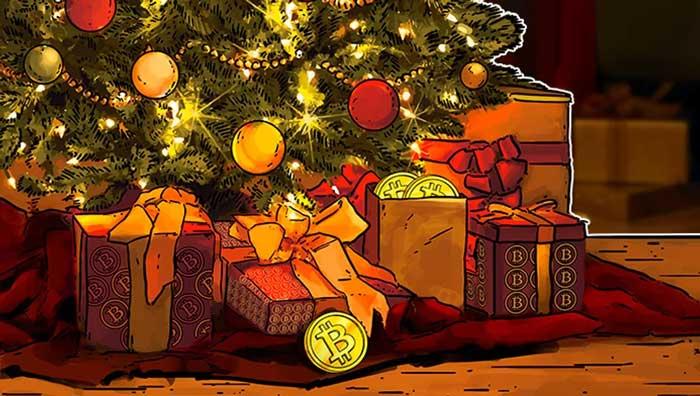 Криптовалютные подарки на Новый Год