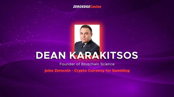 Дин Каракитос присоединяется к проекту Zerocoin
