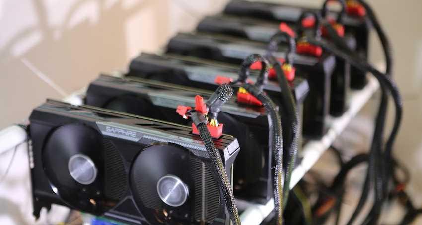 Майниг ферма для добычи Эфириума (из GPU видеокарт)