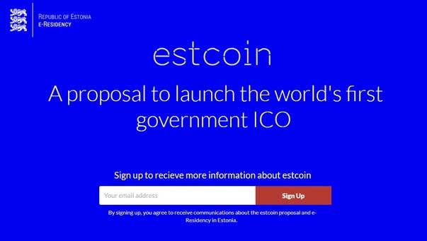 Государственное ICO в Эстонии