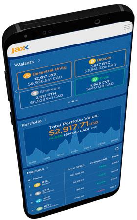 Криптовалютный кошелек Jaxx Liberty