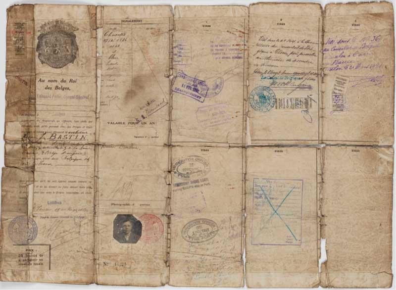 Паспорт бельгийца. Национальный архив Австралии, A435 1944/4/2579