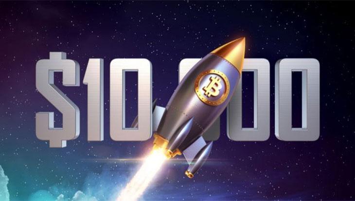Курс Bitcoin (BTC) достиг $10000