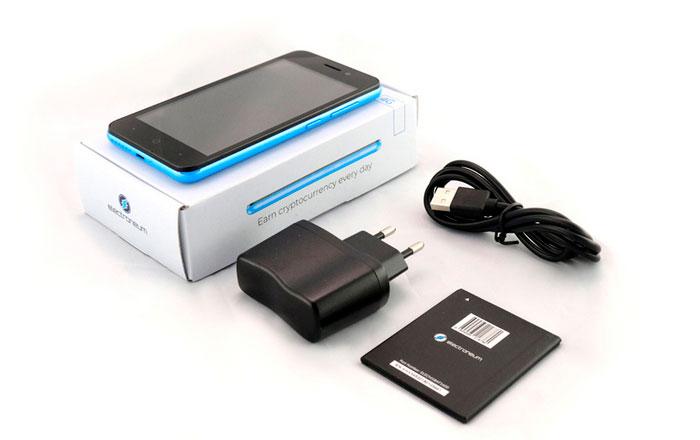 Комплектация криптовалютного смартфона Electroneum M1