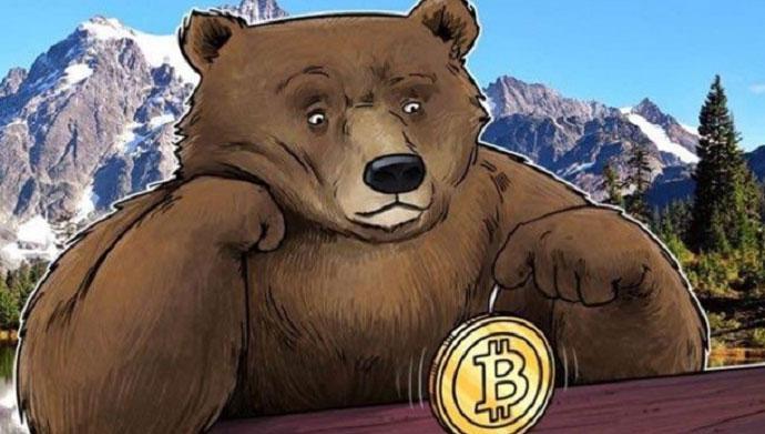 Падающий криптовалютный рынок