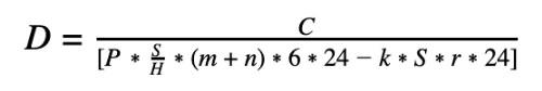Формула оценки стоимости ASIC-майнера