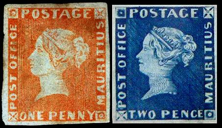 Оранжевый и голубой Маврикий