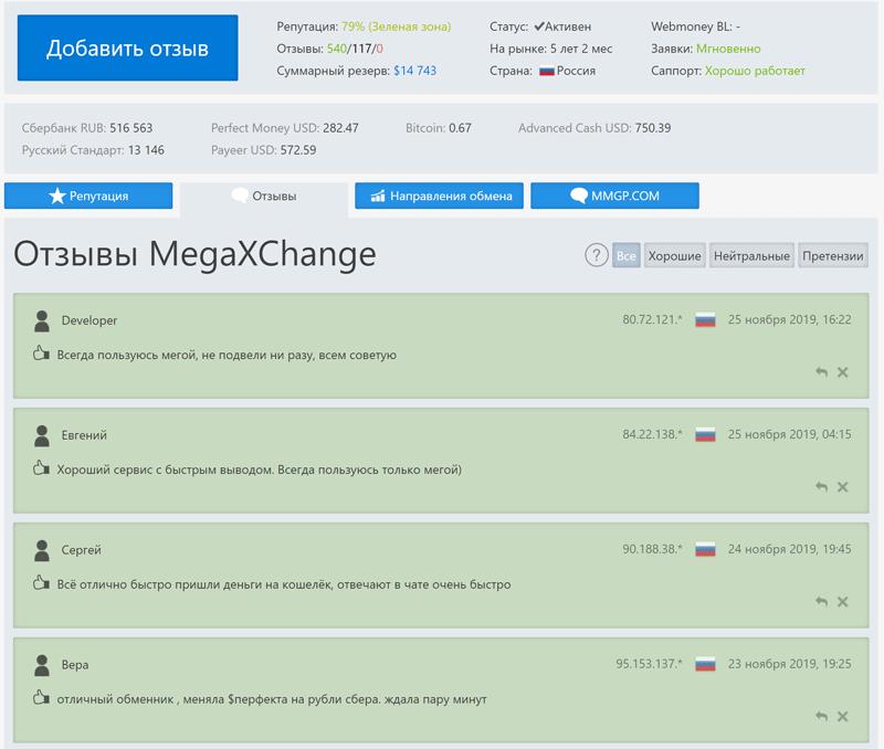 Отзывы о Megaxchange