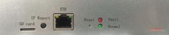 Подключите кабель Ethernet Antminer S17+