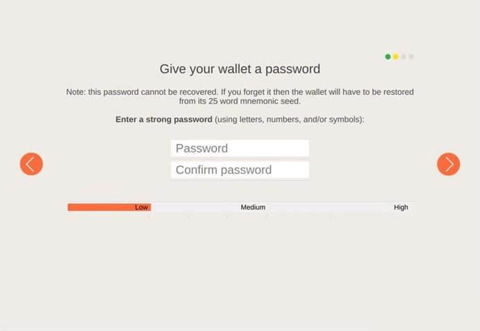 Установка пароля