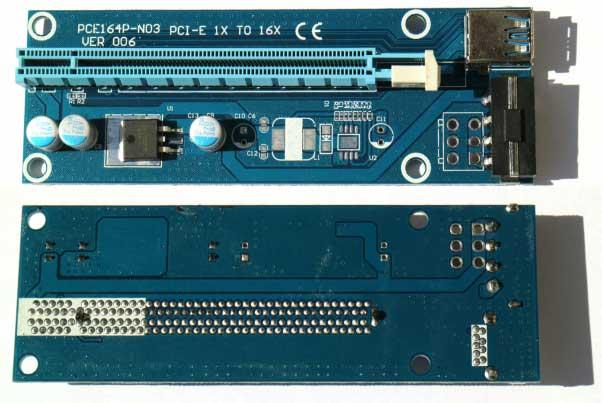 534804e34f80 Райзеры для майнинга на видеокартах, Riser PCI-E 1x 16x для GPU