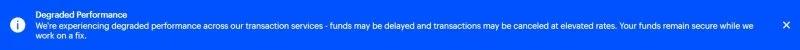 Предупреждение от Coinbase