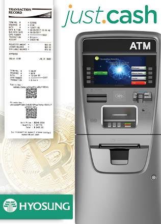 Биткоин банкоматы с QR-код чеком