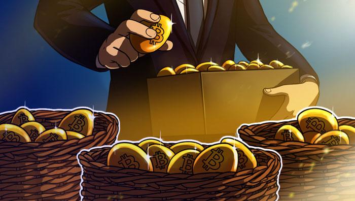 Распределение биткоина