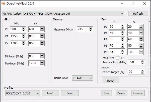 Разгон AMD Radeon RX 5700 в MSI Afterburner