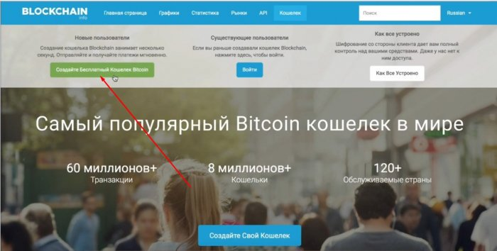 Создание бесплатного Bitcoin кошелька