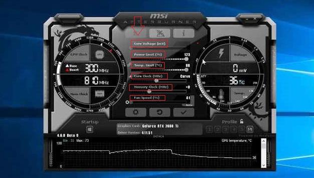 Разгон RTX 2080 в MSI Afterburner