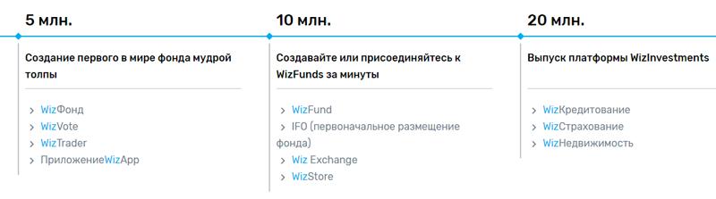 Три сценария реализации проекта WizFund