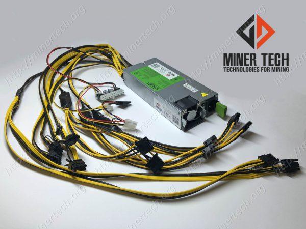 Серверный блок питания для майнинг фермы DELL D1200E