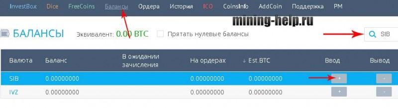 Сибирский Червонец на бирже YoBit