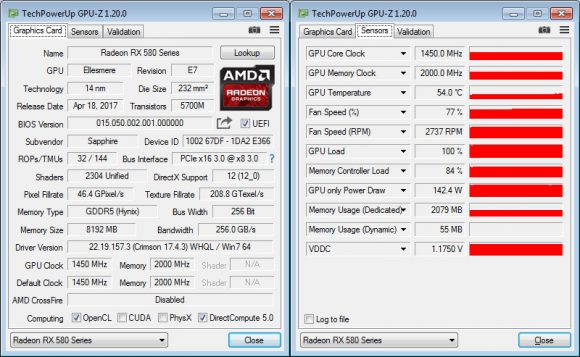 Спецификация в GPU-Z