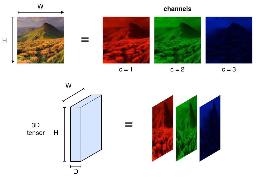 Тензоры - 3D массивы чисел