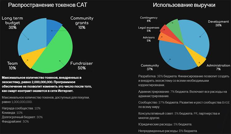 Распределение токенов CAT
