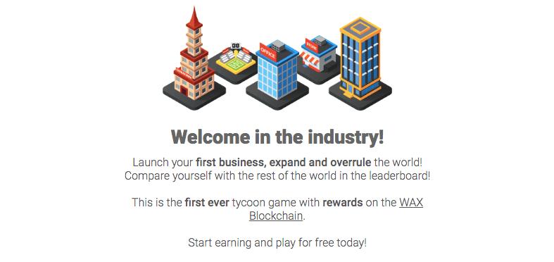 Игра на блокчейне WAX Tycoon